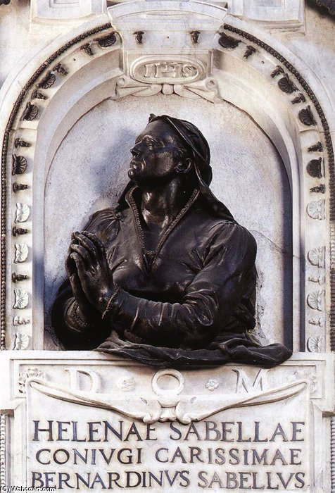 Tomb Of Elena Savelli by Jacopo Del Duca (1520-1601, Italy) | Museum Quality Copies Jacopo Del Duca | WahooArt.com