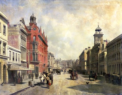 Order Museum Quality Copies | View Of Queen Street by Jacques François Carabain (1834-1933) | WahooArt.com