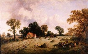 James Edwin Meadows - Haymaking In Hampshire
