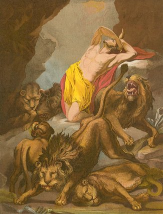 Daniel In The Lion`s Den by James Northcote (1746-1831, United Kingdom) | Paintings Reproductions James Northcote | WahooArt.com