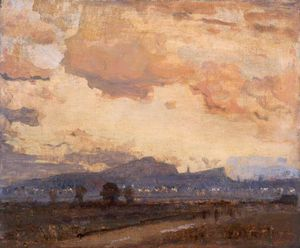 James Paterson - Sunset, Arthur's Seat, Edinburgh