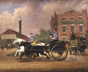 James Pollard - The Omnibus, Livery And Bait Stables At The White Swan Inn