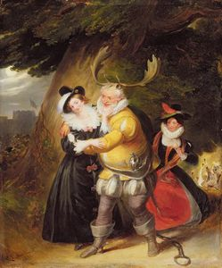 James Stephanoff - Falstaff At Herne's Oak From The Merry Wives