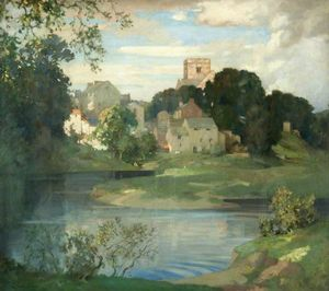 Order Reproductions | Kirkby Lonsdale, Westmorland by James Whitelaw Hamilton (1860-1932, United Kingdom) | WahooArt.com