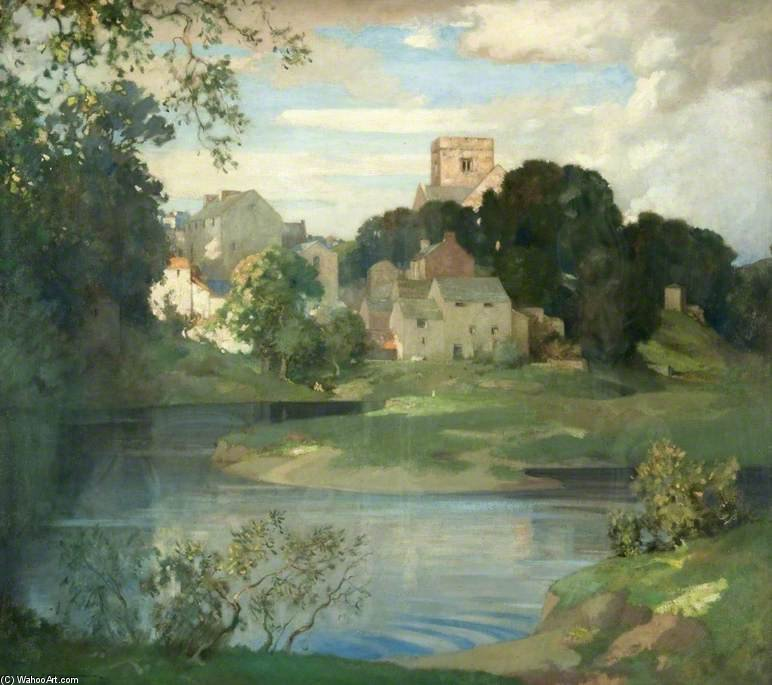 Kirkby Lonsdale, Westmorland by James Whitelaw Hamilton (1860-1932, United Kingdom) | Reproductions James Whitelaw Hamilton | WahooArt.com