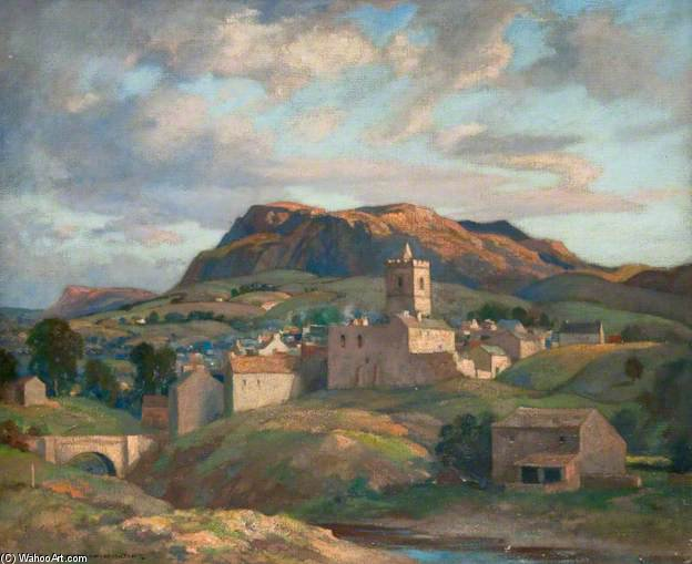 The Yorkshire Dales by James Whitelaw Hamilton (1860-1932, United Kingdom) | Museum Quality Copies James Whitelaw Hamilton | WahooArt.com