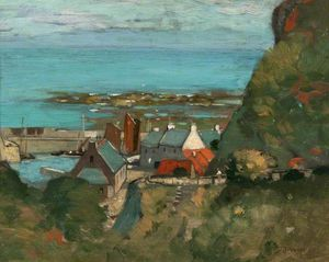 James Whitelaw Hamilton - View Of A Harbour