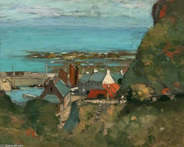 View Of A Harbour by James Whitelaw Hamilton (1860-1932, United Kingdom) | Museum Art Reproductions James Whitelaw Hamilton | WahooArt.com