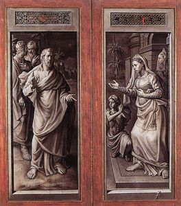 Jan Cornelisz Vermeyen (Jan Mayo) - Triptych Of The Micault Family (closed)