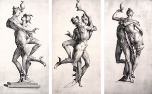 Jan Harmensz Muller - Mercury And Psyche, Viewed From Three Sides