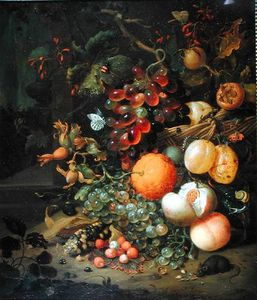 Jan Mortel - Still Life With Fruit