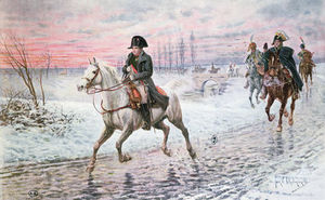 Jan Van Chelminski - Napoleon On The Retreat From Moscow