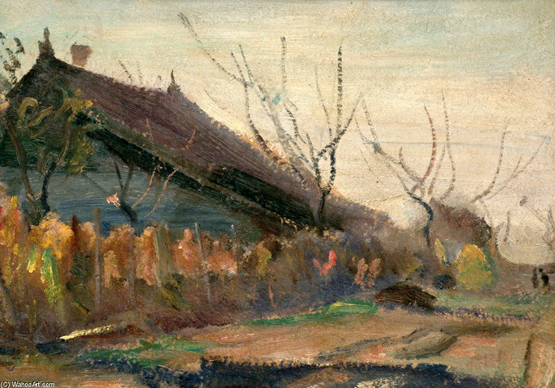 Late Autumn by Janos Tornyai (1869-1936, Hungary) | WahooArt.com