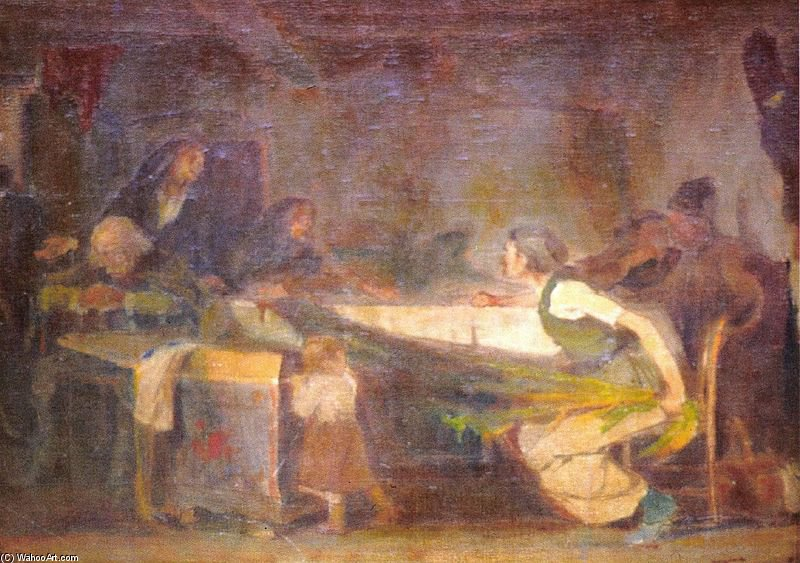 Sketch For The Legacy - by Janos Tornyai (1869-1936, Hungary) | Museum Quality Reproductions | WahooArt.com