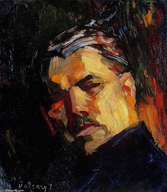 Self Portrait by Janos Vaszary (1867-1939, Hungary)