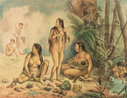 Order Reproductions | Indigenous Population Of Cantagalo, C.1826 by Jean Baptiste Debret (1768-1848, France) | WahooArt.com