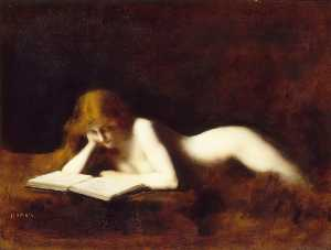 Jean Jacques Henner - The Reading