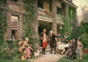 Jean Leon Gerome Ferris - George Washington Visiting Bartram-s Garden In