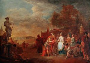 Johann Georg Platzer - Alexander And The Queen Of The Amazons, Thalestris