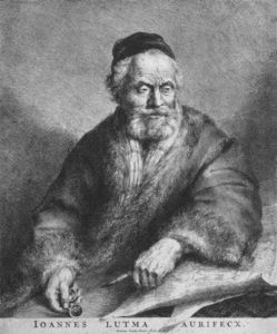 Johannes The Younger Lutma - Portrait Of Johannes Lutma The Elder