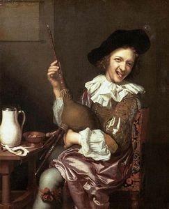 Johannes Tielius - Bagpipe Player Making Faces