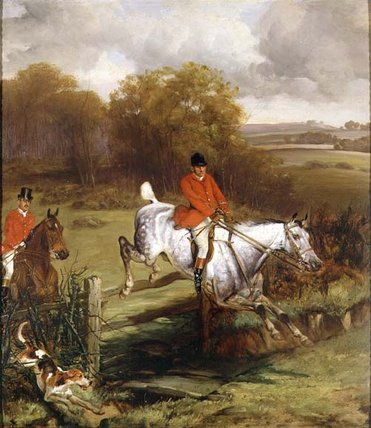 Jumping A Fence by John Alfred Wheeler (1821-1903, United Kingdom)