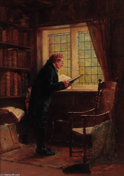 A Favourite Author by John Arthur Lomax (1857-1923, United Kingdom)