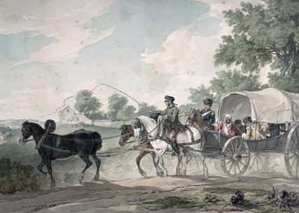 Belgian Wagon Conveying Wounded From The Field by John Augustus Atkinson (1775-1833, United Kingdom)