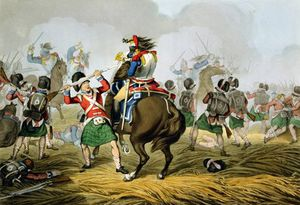 French Cuirassiers At The Battle Of Waterloo by John Augustus Atkinson  (order Fine Art hand made painting John Augustus Atkinson)