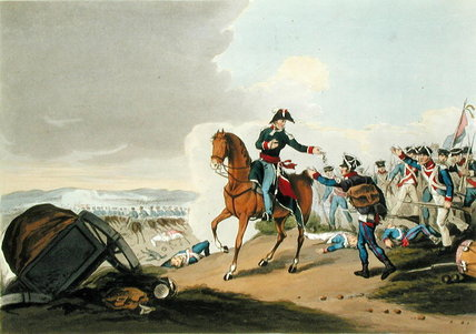 The Prince Of Orange At The Battle Of Waterloo by John Augustus Atkinson (1775-1833, United Kingdom) | Famous Paintings Reproductions | WahooArt.com