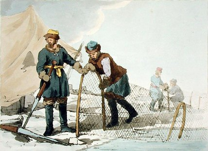 Winter Fishing by John Augustus Atkinson (1775-1833, United Kingdom)