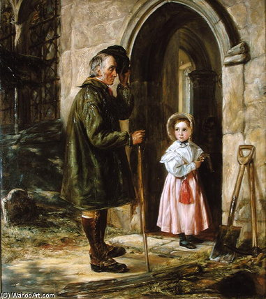 Youth And Age by John Callcott Horsley (1817-1903, United Kingdom) | WahooArt.com