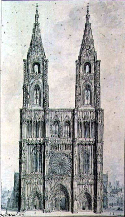 Order Reproductions | West Front Of Strasbourg Cathedral by John Carter | WahooArt.com
