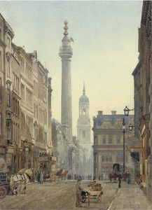 John Crowther - The Monument From Gracechurch Street