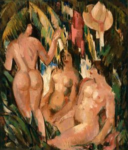 John Duncan Fergusson - At The Pond