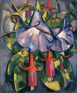 John Duncan Fergusson - Gloxinias And Fuschias