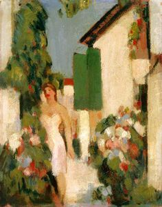 John Duncan Fergusson - Pink Dress, Cap D'antibes