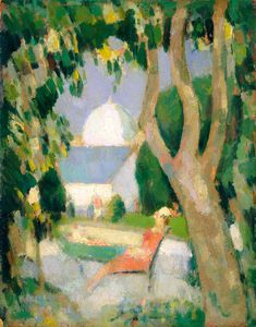 John Duncan Fergusson - The Red Dress, Botanic Gardens
