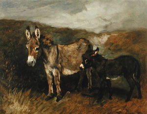 John Emms - Donkeys Out On The Moor
