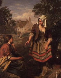 John Faed - At The Spring Or Gossip