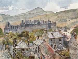 John Fulleylove - Holyrood Palace From The Public Gardens