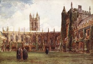 John Fulleylove - The Cloisters, Magdalen College