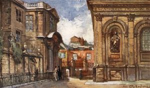John Fulleylove - The Old Ashmolean Museum And Sheldonian Theatre