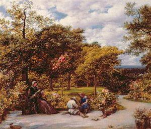 John Linnell - My Garden At Redhill