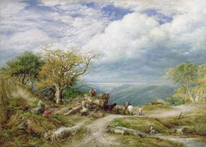 John Linnell - The Timber Waggon