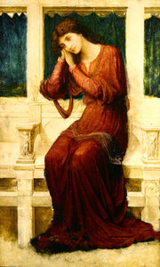 John Melhuish Strudwick - When Sorrow Comes To Summerday Roses