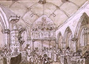 John Nixon - Congregation, St. Mary's Church, C.1812
