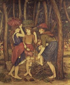 John Roddam Spencer Stanhope - The Pine Woods