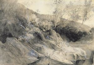 John Ruskin - The Rocky Bank Of A River