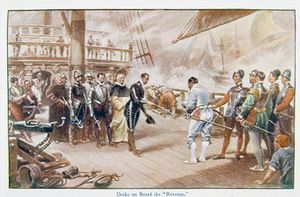 John Seymour Lucas - Sir Francis Drake On Board The Revenge